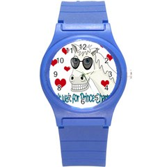 Don t Wait For Prince Sharming Round Plastic Sport Watch (s) by Valentinaart