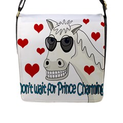 Don t Wait For Prince Sharming Flap Messenger Bag (l)  by Valentinaart