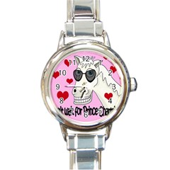 Don t Wait For Prince Charming Round Italian Charm Watch by Valentinaart