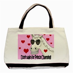 Don t Wait For Prince Charming Basic Tote Bag by Valentinaart