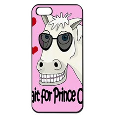 Don t Wait For Prince Charming Apple Iphone 5 Seamless Case (black) by Valentinaart