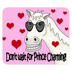 Don t Wait For Prince Charming Double Sided Flano Blanket (small)  by Valentinaart