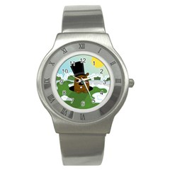 Groundhog Stainless Steel Watch by Valentinaart