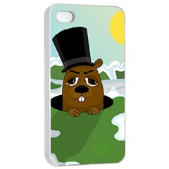Groundhog Apple Iphone 4/4s Seamless Case (white) by Valentinaart