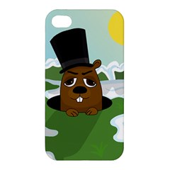 Groundhog Apple Iphone 4/4s Premium Hardshell Case by Valentinaart