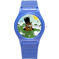 Groundhog Round Plastic Sport Watch (s) by Valentinaart