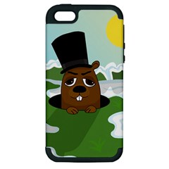 Groundhog Apple Iphone 5 Hardshell Case (pc+silicone) by Valentinaart