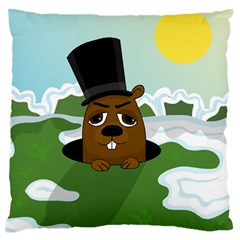 Groundhog Standard Flano Cushion Case (two Sides) by Valentinaart