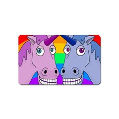Unicorn Love Magnet (name Card) by Valentinaart