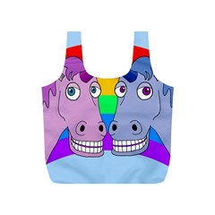 Unicorn Love Full Print Recycle Bags (s)  by Valentinaart