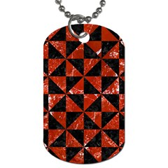 Triangle1 Black Marble & Red Marble Dog Tag (one Side) by trendistuff