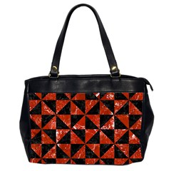 Triangle1 Black Marble & Red Marble Oversize Office Handbag (2 Sides) by trendistuff