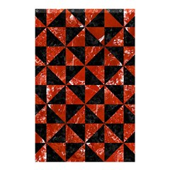 Triangle1 Black Marble & Red Marble Shower Curtain 48  X 72  (small) by trendistuff