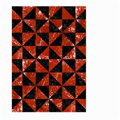Triangle1 Black Marble & Red Marble Large Garden Flag (two Sides) by trendistuff