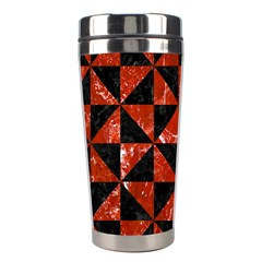 Triangle1 Black Marble & Red Marble Stainless Steel Travel Tumbler