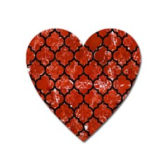 Tile1 Black Marble & Red Marble (r) Magnet (heart) by trendistuff