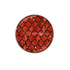 Tile1 Black Marble & Red Marble (r) Hat Clip Ball Marker (10 Pack) by trendistuff