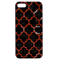 Tile1 Black Marble & Red Marble Apple Iphone 5 Hardshell Case With Stand by trendistuff