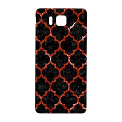 Tile1 Black Marble & Red Marble Samsung Galaxy Alpha Hardshell Back Case by trendistuff
