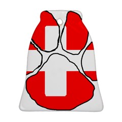 Paw Switzerland Flag Bell Ornament (2 Sides) by TailWags