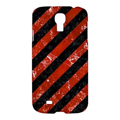 Stripes3 Black Marble & Red Marble Samsung Galaxy S4 I9500/i9505 Hardshell Case by trendistuff