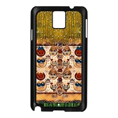 Festive Cartoons In Star Fall Samsung Galaxy Note 3 N9005 Case (black) by pepitasart