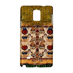 Festive Cartoons In Star Fall Samsung Galaxy Note 4 Hardshell Case by pepitasart