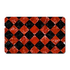 Square2 Black Marble & Red Marble Magnet (rectangular) by trendistuff