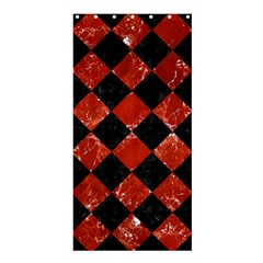 Square2 Black Marble & Red Marble Shower Curtain 36  X 72  (stall) by trendistuff