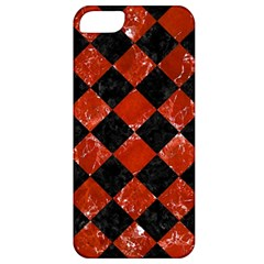 Square2 Black Marble & Red Marble Apple Iphone 5 Classic Hardshell Case