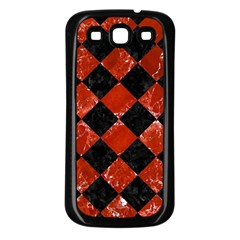 Square2 Black Marble & Red Marble Samsung Galaxy S3 Back Case (black)