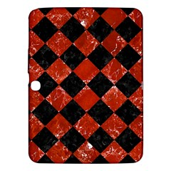Square2 Black Marble & Red Marble Samsung Galaxy Tab 3 (10 1 ) P5200 Hardshell Case  by trendistuff