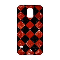 Square2 Black Marble & Red Marble Samsung Galaxy S5 Hardshell Case  by trendistuff