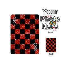 Square1 Black Marble & Red Marble Playing Cards 54 (mini) by trendistuff