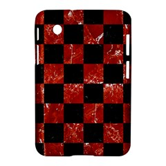 Square1 Black Marble & Red Marble Samsung Galaxy Tab 2 (7 ) P3100 Hardshell Case  by trendistuff