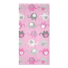 Animals Elephant Pink Cute Shower Curtain 36  X 72  (stall)  by Jojostore