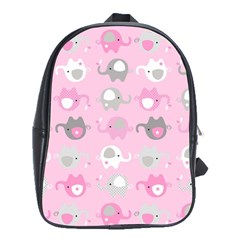 Animals Elephant Pink Cute School Bags (xl)  by Jojostore