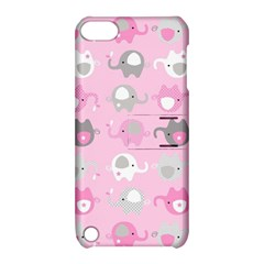 Animals Elephant Pink Cute Apple Ipod Touch 5 Hardshell Case With Stand by Jojostore
