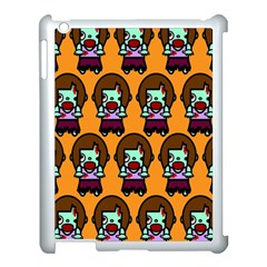 Zombie Woman Fill Orange Apple Ipad 3/4 Case (white) by Jojostore