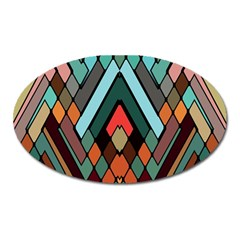 Abstract Mosaic Color Box Oval Magnet by Jojostore