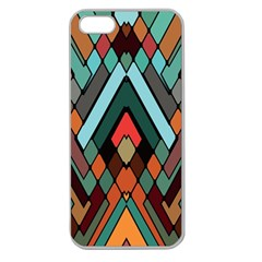 Abstract Mosaic Color Box Apple Seamless Iphone 5 Case (clear) by Jojostore