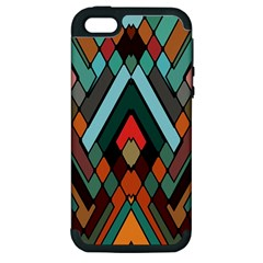 Abstract Mosaic Color Box Apple Iphone 5 Hardshell Case (pc+silicone) by Jojostore