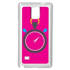 Alarm Clock Houre Samsung Galaxy Note 4 Case (white) by Jojostore