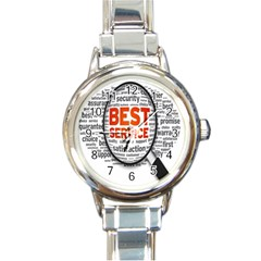 Article Round Italian Charm Watch by Jojostore