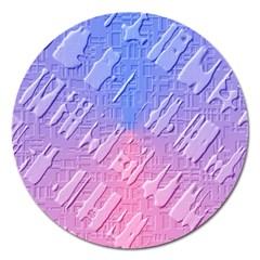 Baby Pattern Magnet 5  (round)