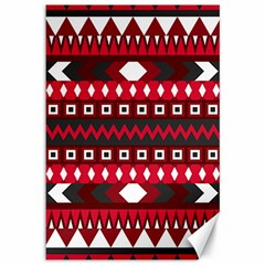 Asterey Red Pattern Canvas 12  X 18   by Jojostore