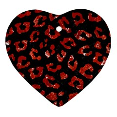 Skin5 Black Marble & Red Marble (r) Ornament (heart) by trendistuff
