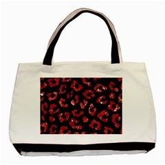 Skin5 Black Marble & Red Marble (r) Basic Tote Bag by trendistuff