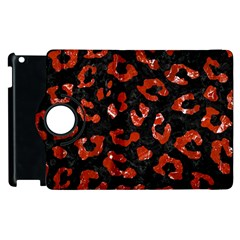 Skin5 Black Marble & Red Marble (r) Apple Ipad 2 Flip 360 Case by trendistuff