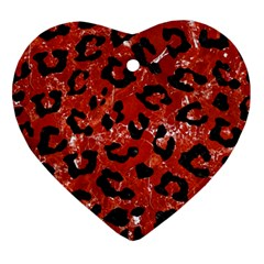 Skin5 Black Marble & Red Marble Ornament (heart) by trendistuff